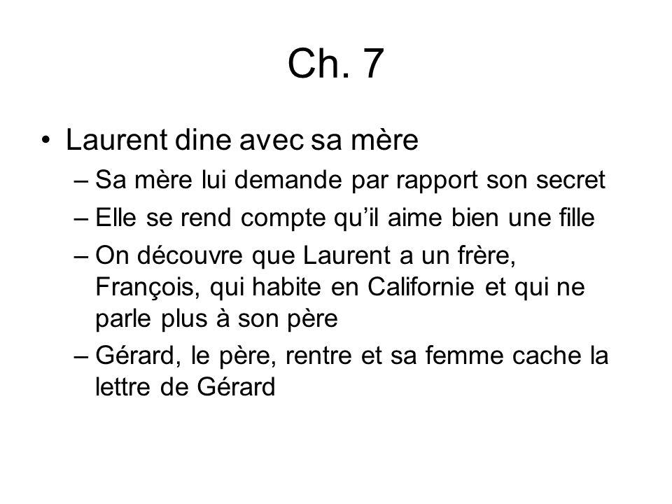 Ch. 7 Laurent dine avec sa mère