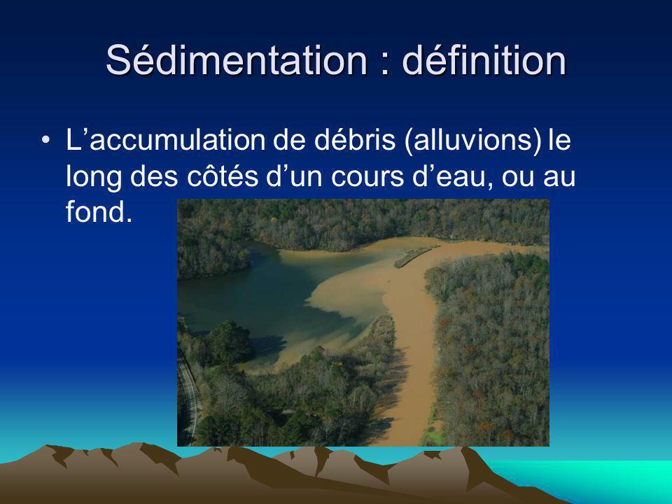 Sédimentation : définition