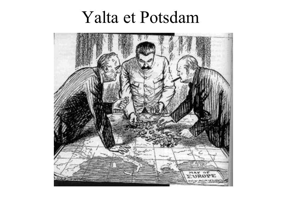 Yalta et Potsdam Caricature: Yalta