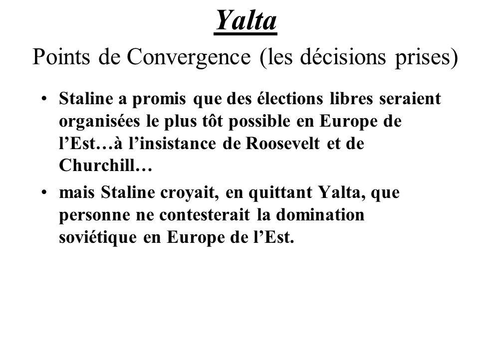 Yalta Points de Convergence (les décisions prises)