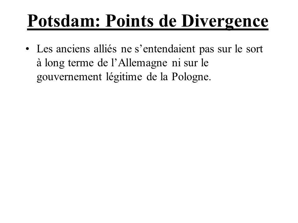 Potsdam: Points de Divergence