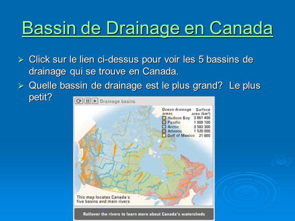 Bassin de Drainage en Canada