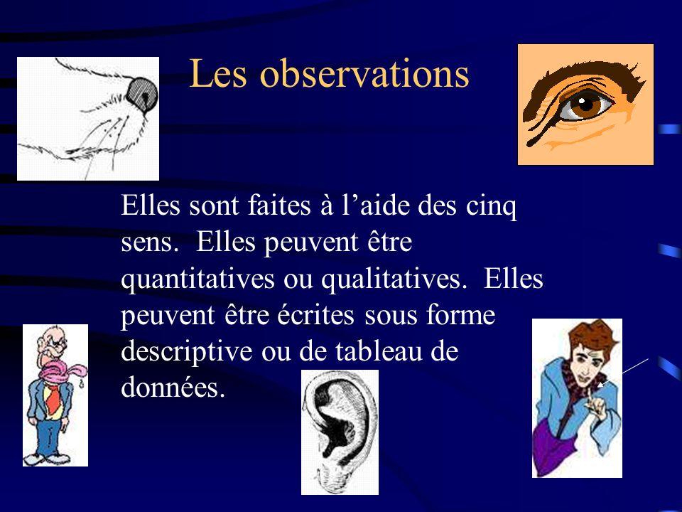 Les observations