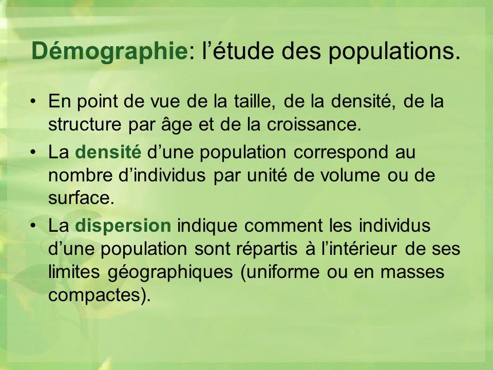 Démographie: l'étude des populations.