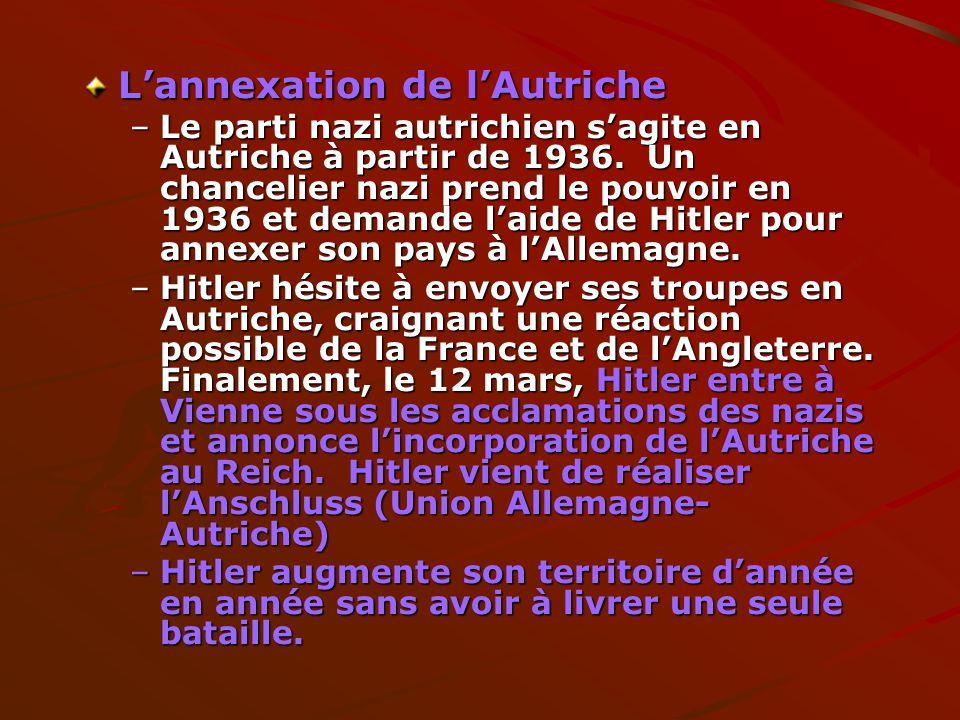 L'annexation de l'Autriche