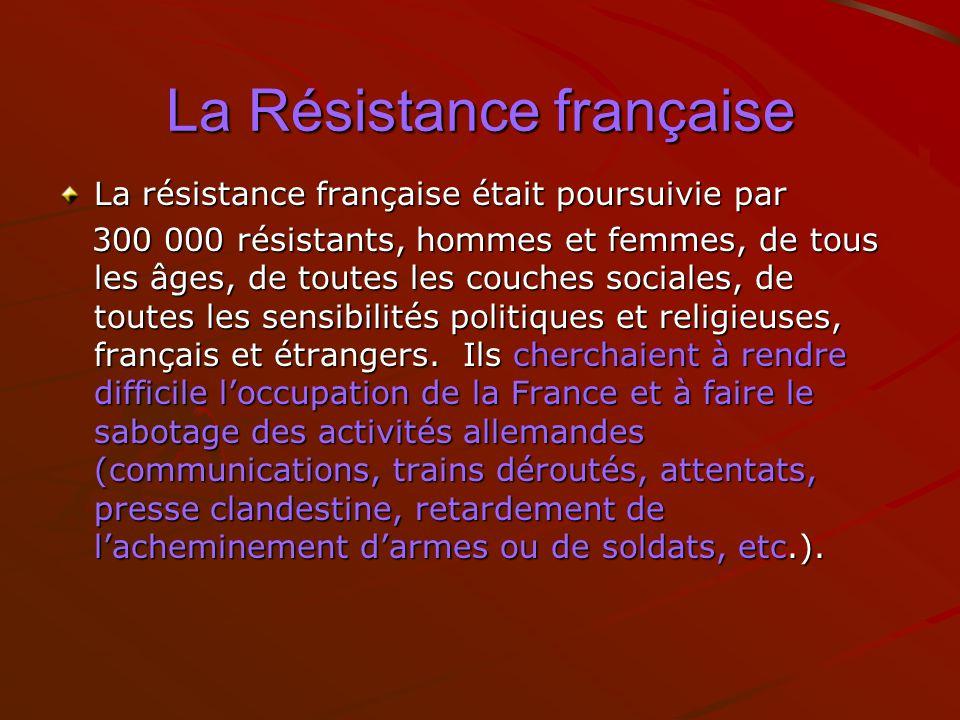 La Résistance française