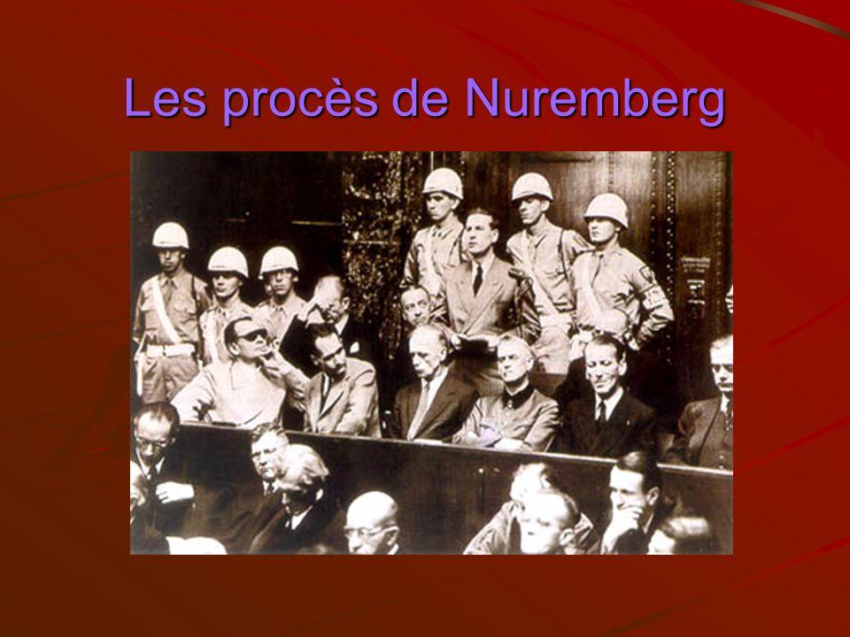 Les procès de Nuremberg