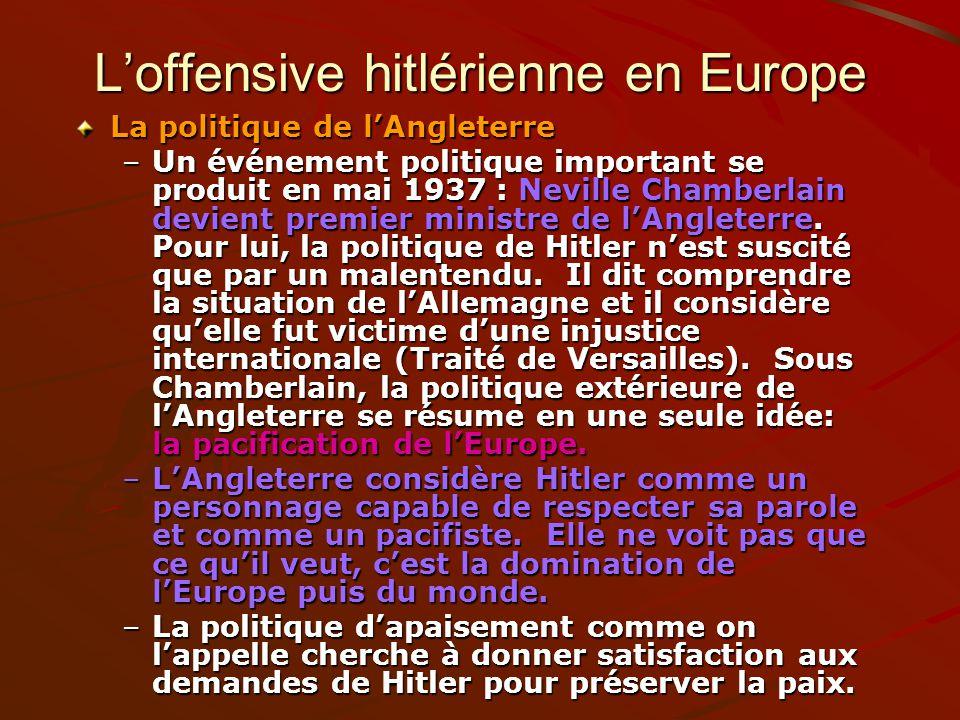 L'offensive hitlérienne en Europe