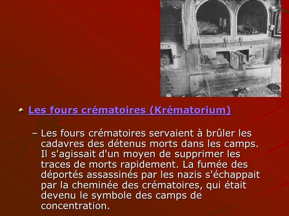 Les fours crématoires (Krématorium)