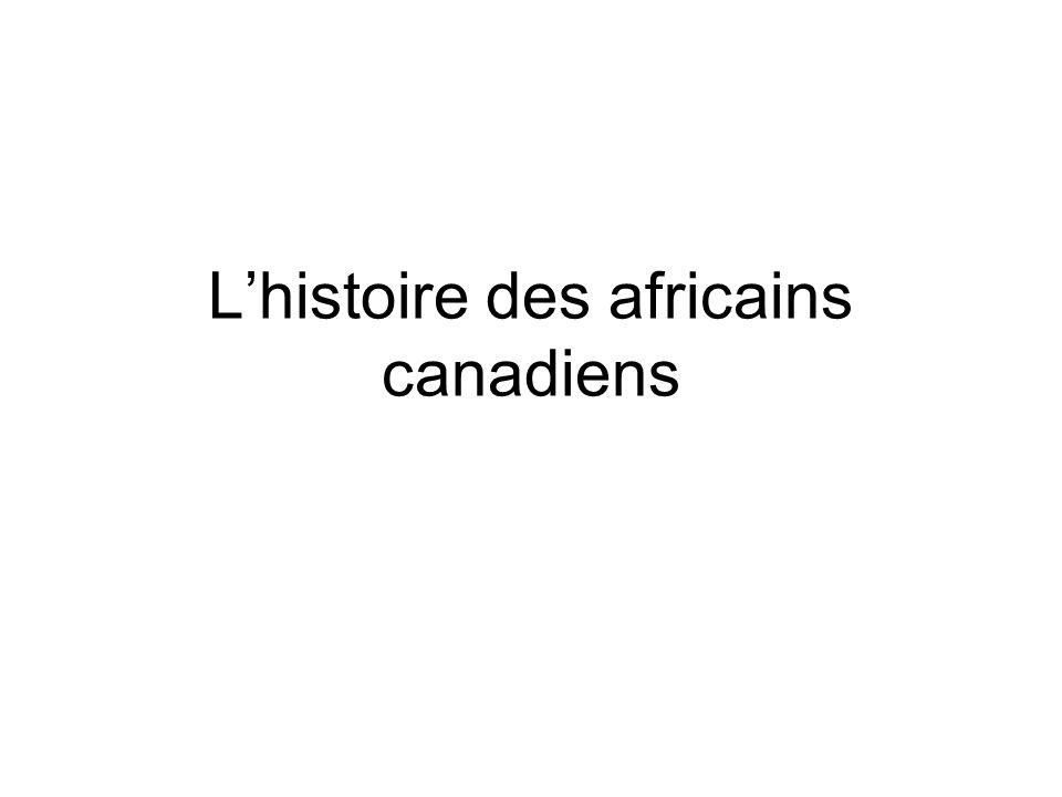L'histoire des africains canadiens