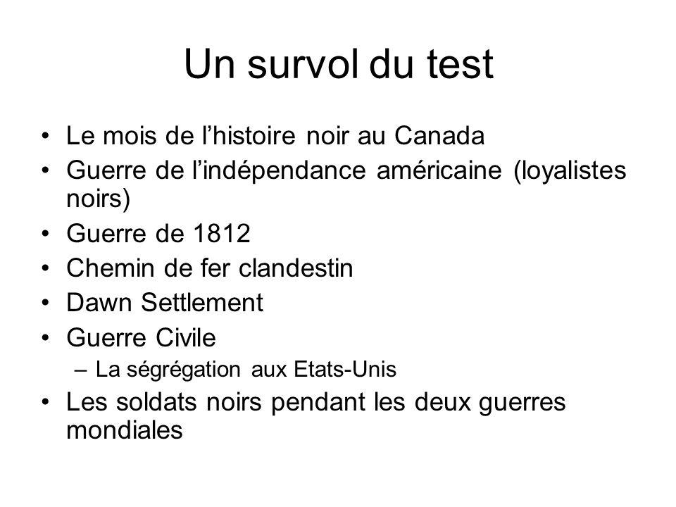 Un survol du test Le mois de l'histoire noir au Canada