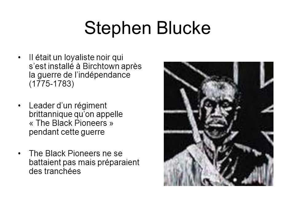 Stephen Blucke Il était un loyaliste noir qui s'est installé à Birchtown après la guerre de l'indépendance (1775-1783)