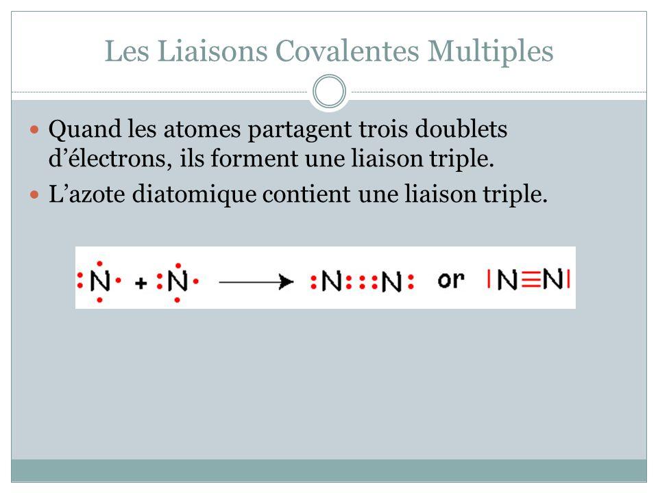 Les Liaisons Covalentes Multiples