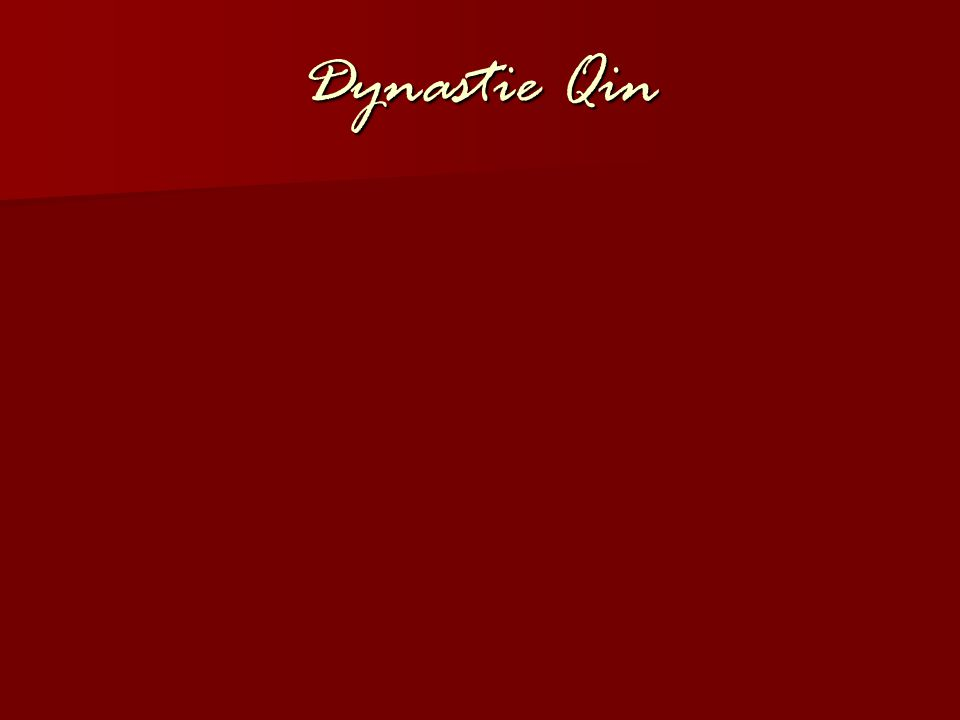 Dynastie Qin