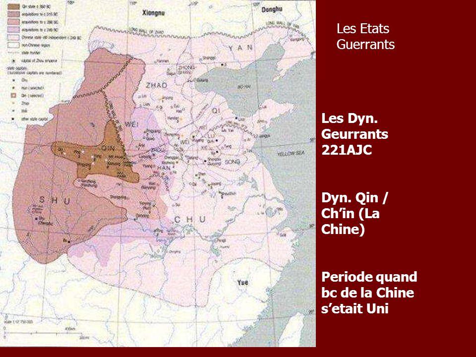 Les Etats Guerrants Les Dyn. Geurrants 221AJC. Dyn.