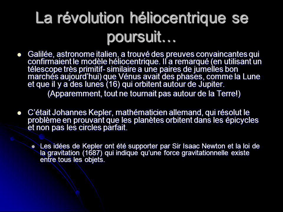 La révolution héliocentrique se poursuit…