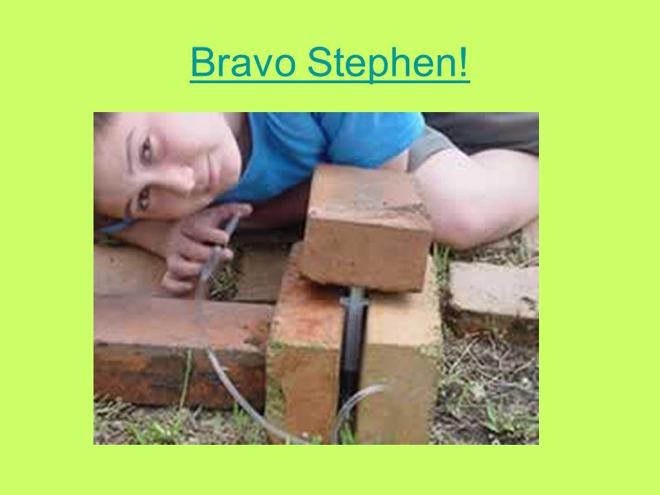 Bravo Stephen!