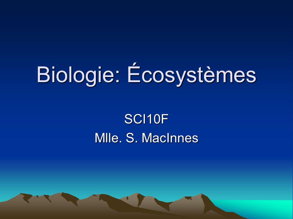 Biologie: Écosystèmes