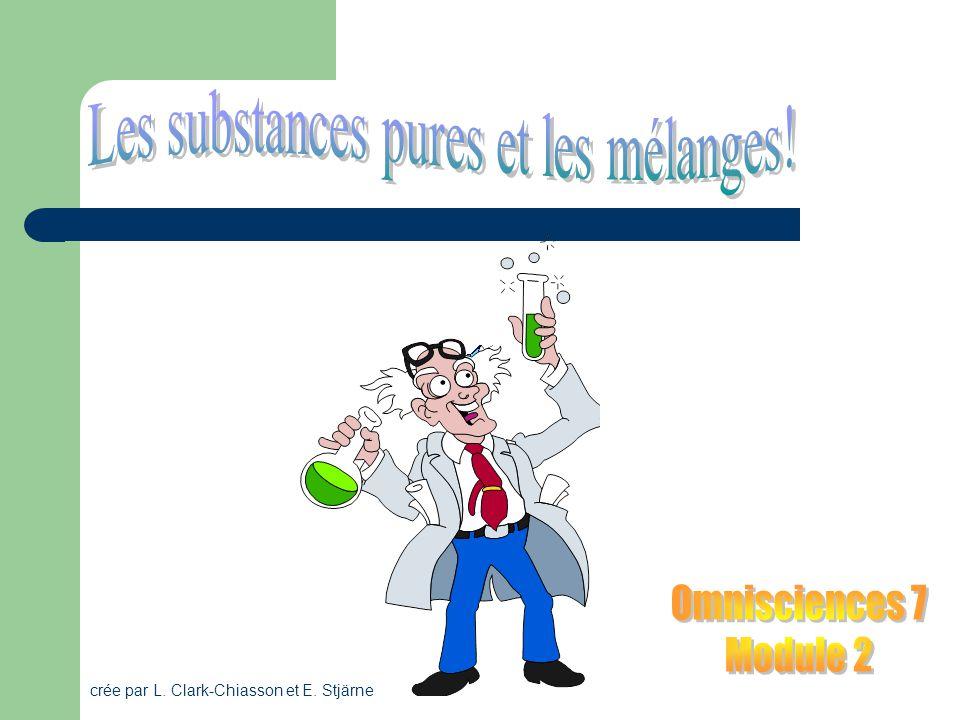 Les substances pures et les mélanges!