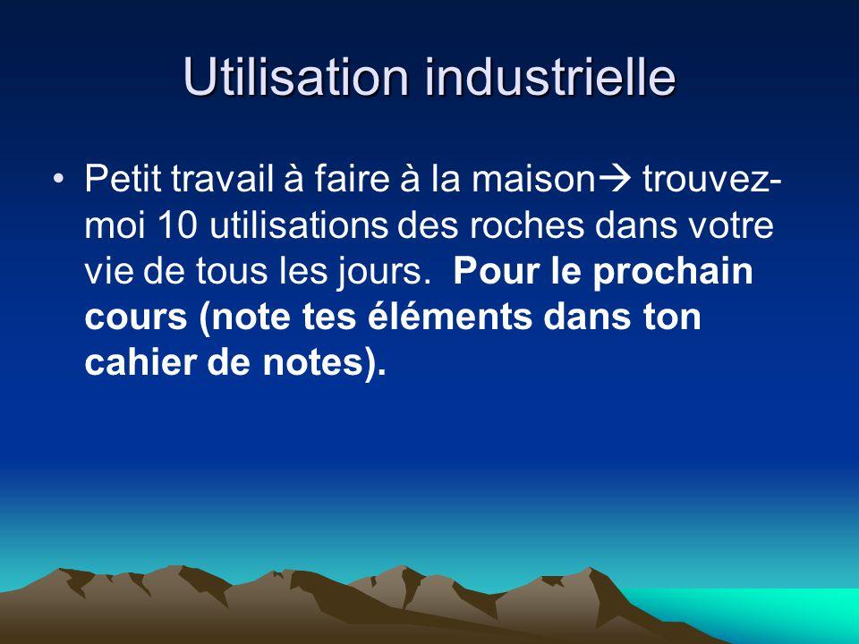 Utilisation industrielle