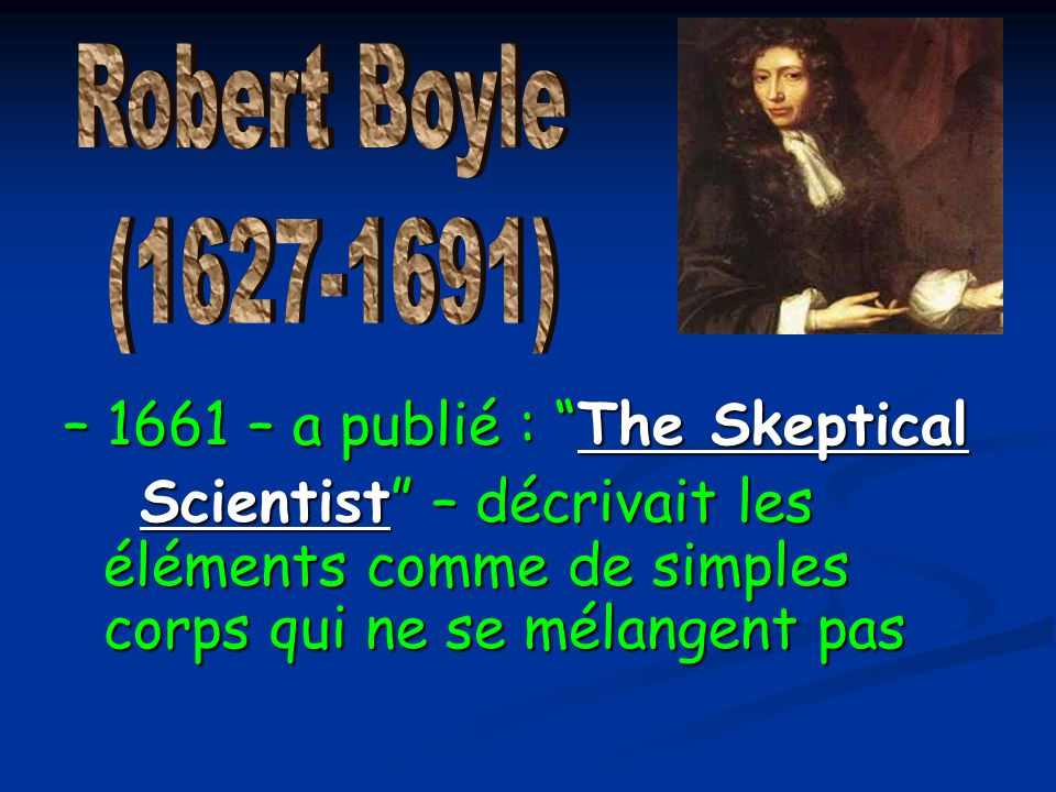 – 1661 – a publié : The Skeptical