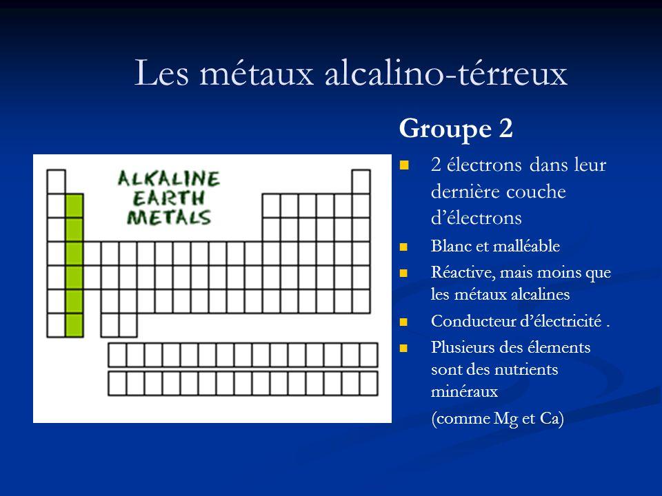 Les métaux alcalino-térreux