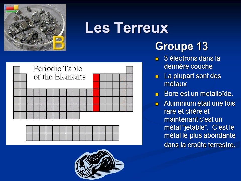 Les Terreux Groupe 13 3 électrons dans la dernière couche