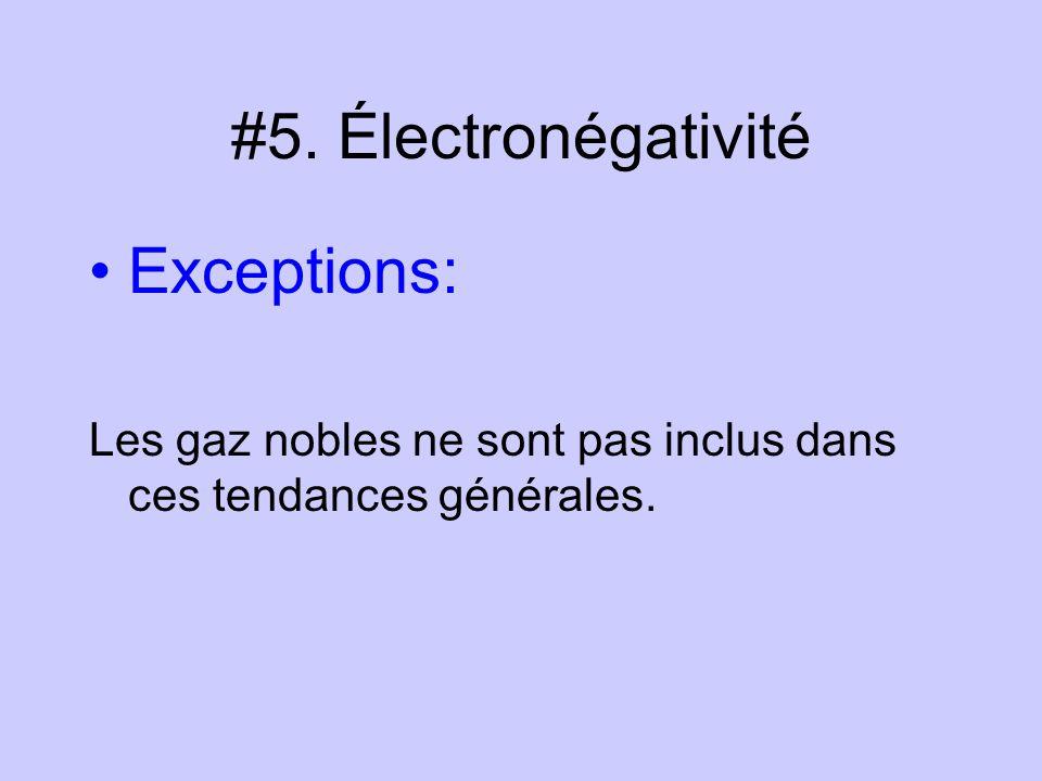#5. Électronégativité Exceptions: