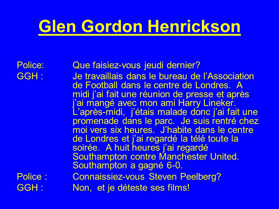 Glen Gordon Henrickson