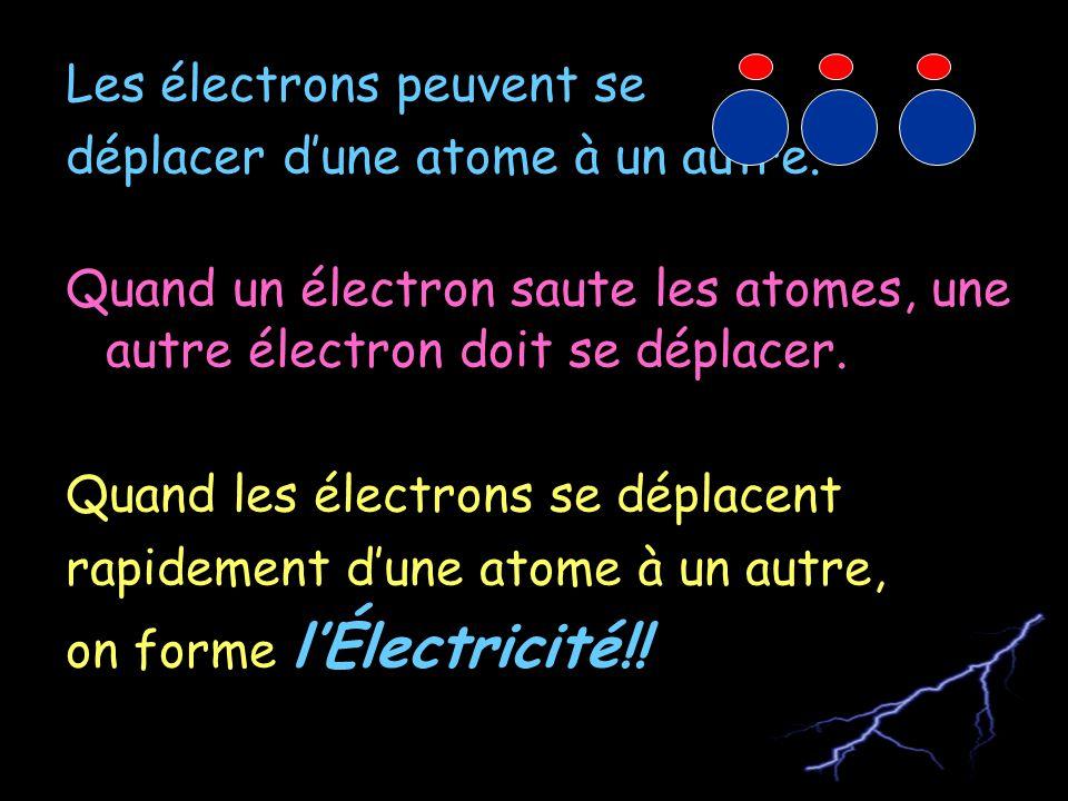 Les électrons peuvent se