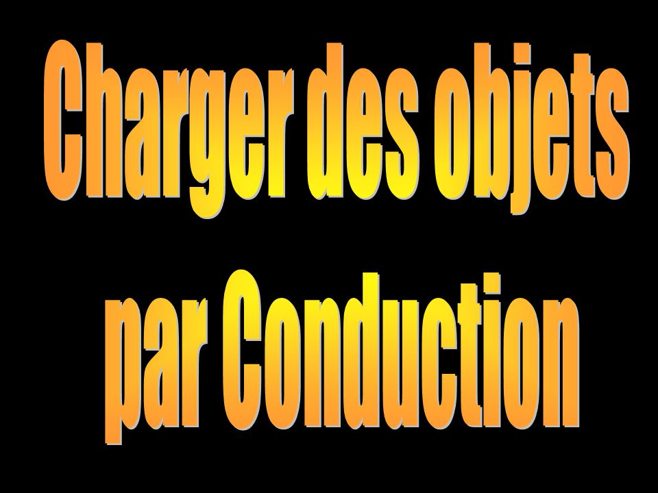 Charger des objets par Conduction