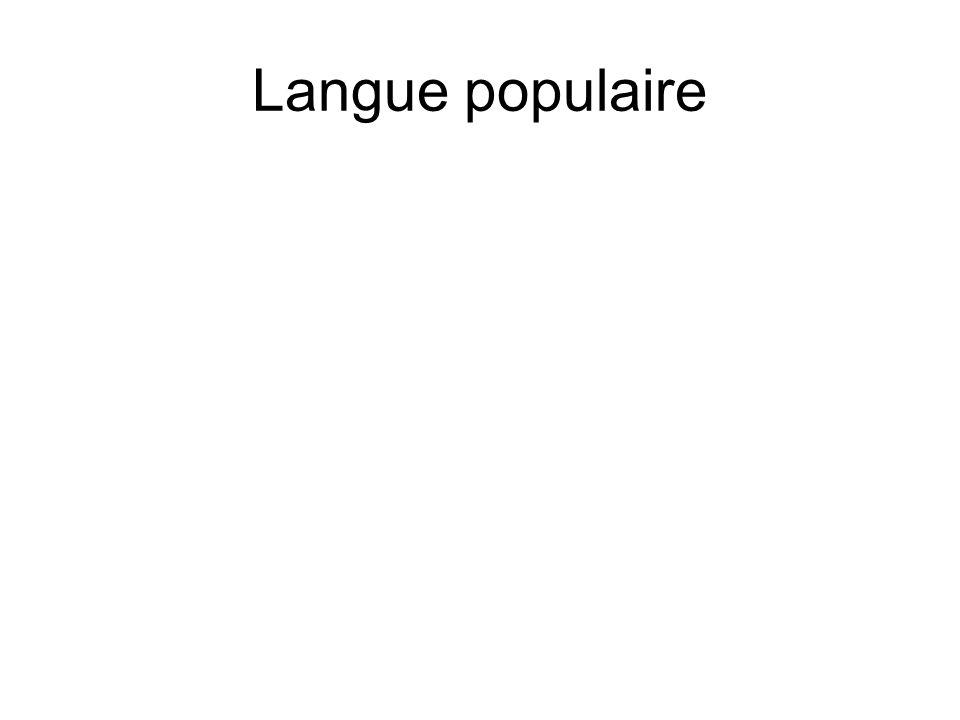 Langue populaire
