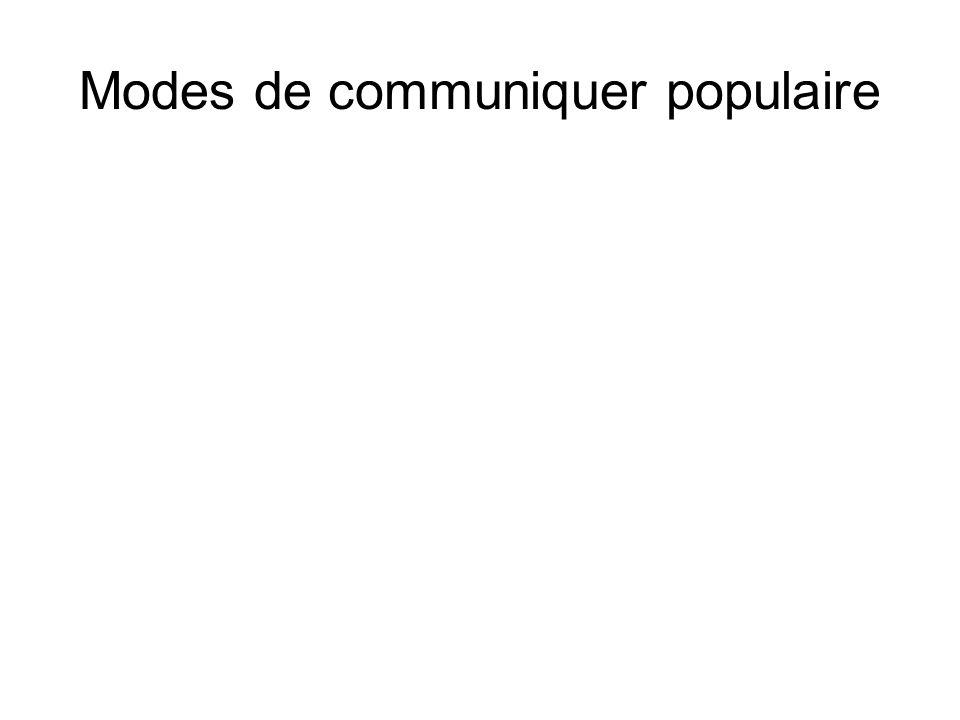 Modes de communiquer populaire