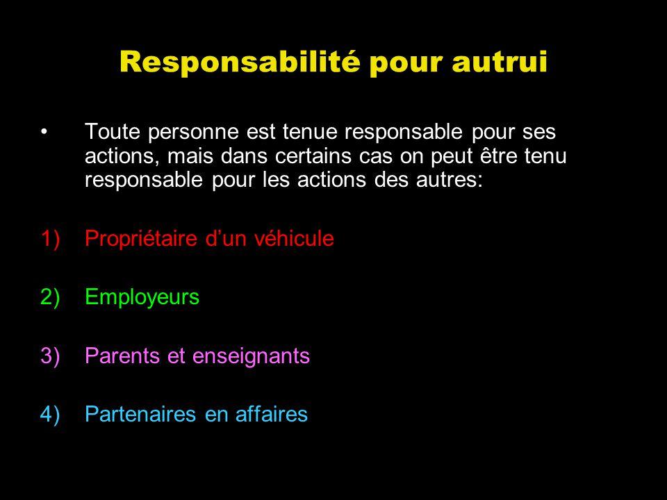 Responsabilité pour autrui