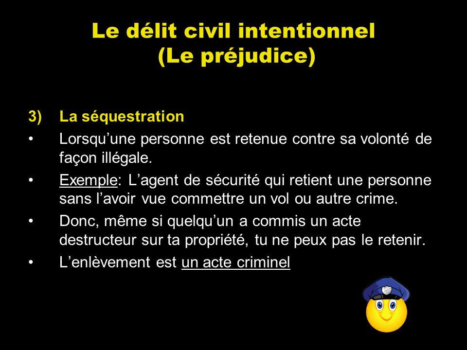 Le délit civil intentionnel (Le préjudice)