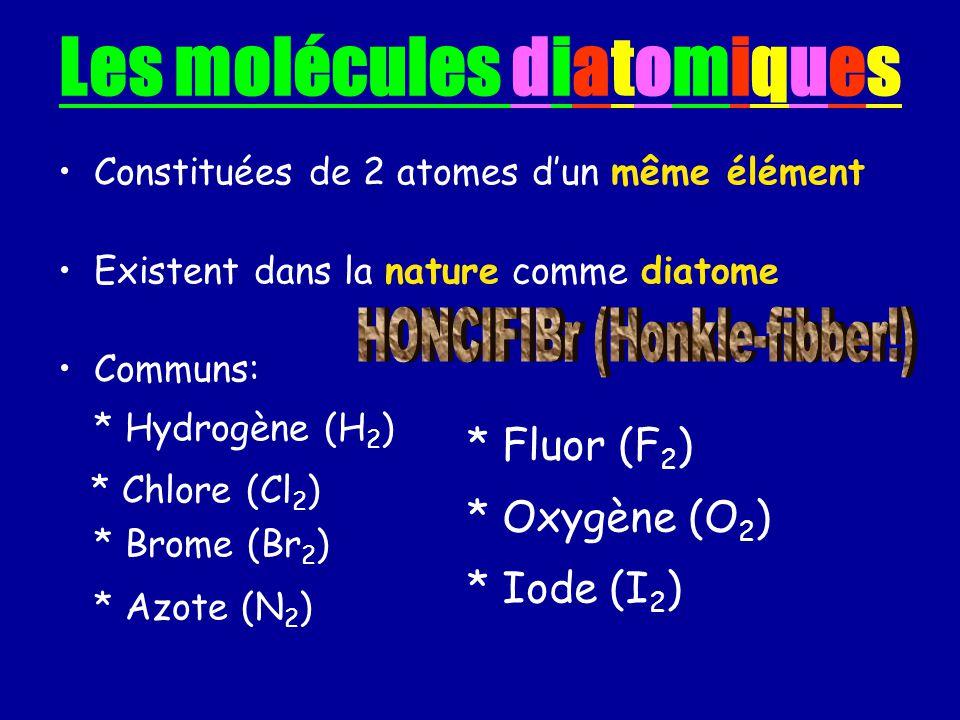 Les molécules diatomiques