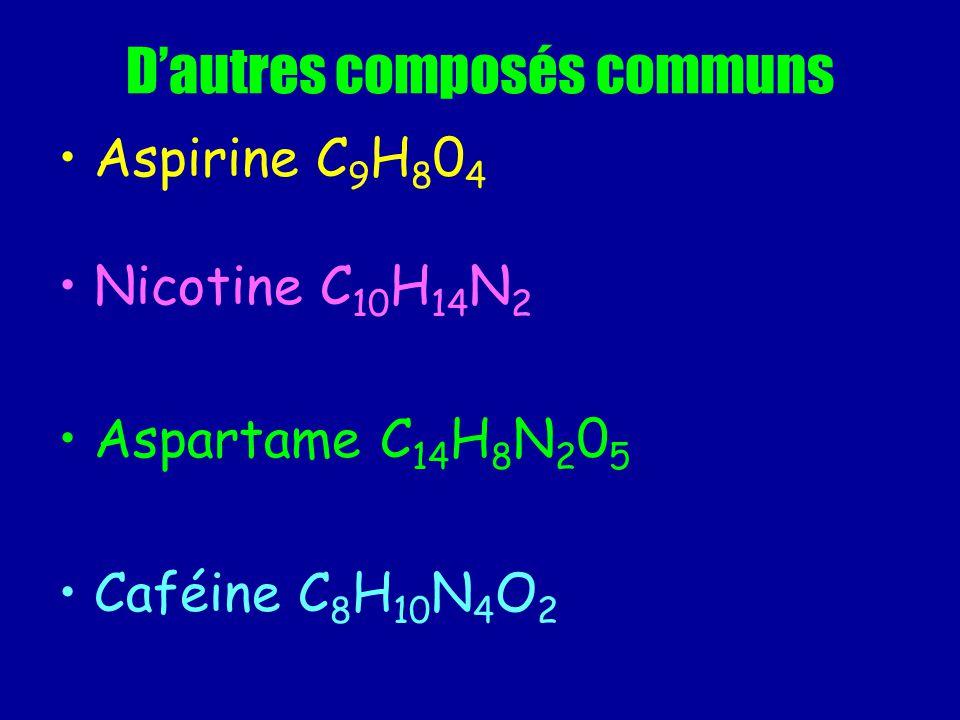 D'autres composés communs