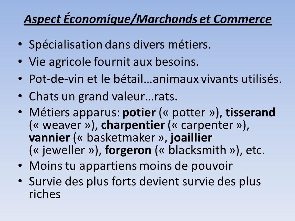 Aspect Économique/Marchands et Commerce