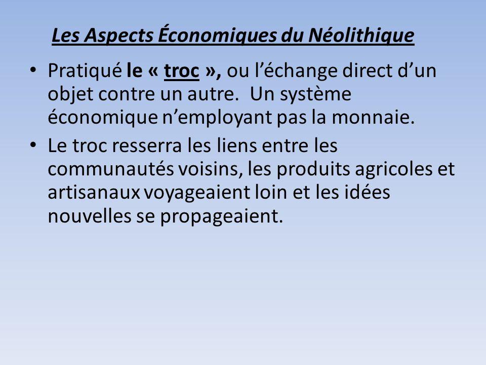 Les Aspects Économiques du Néolithique