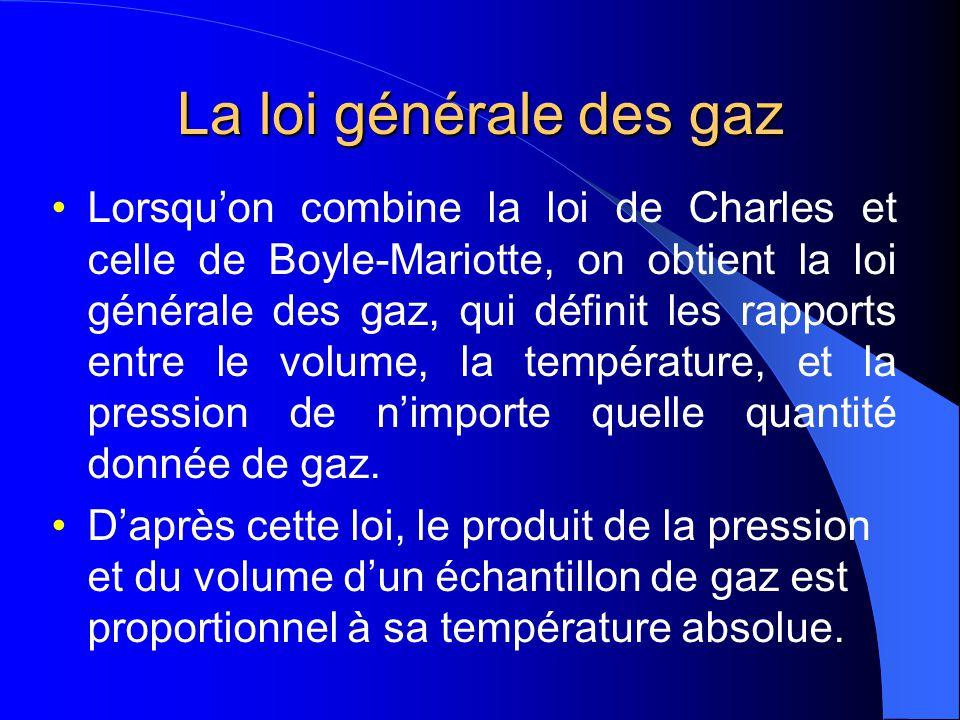 La loi générale des gaz
