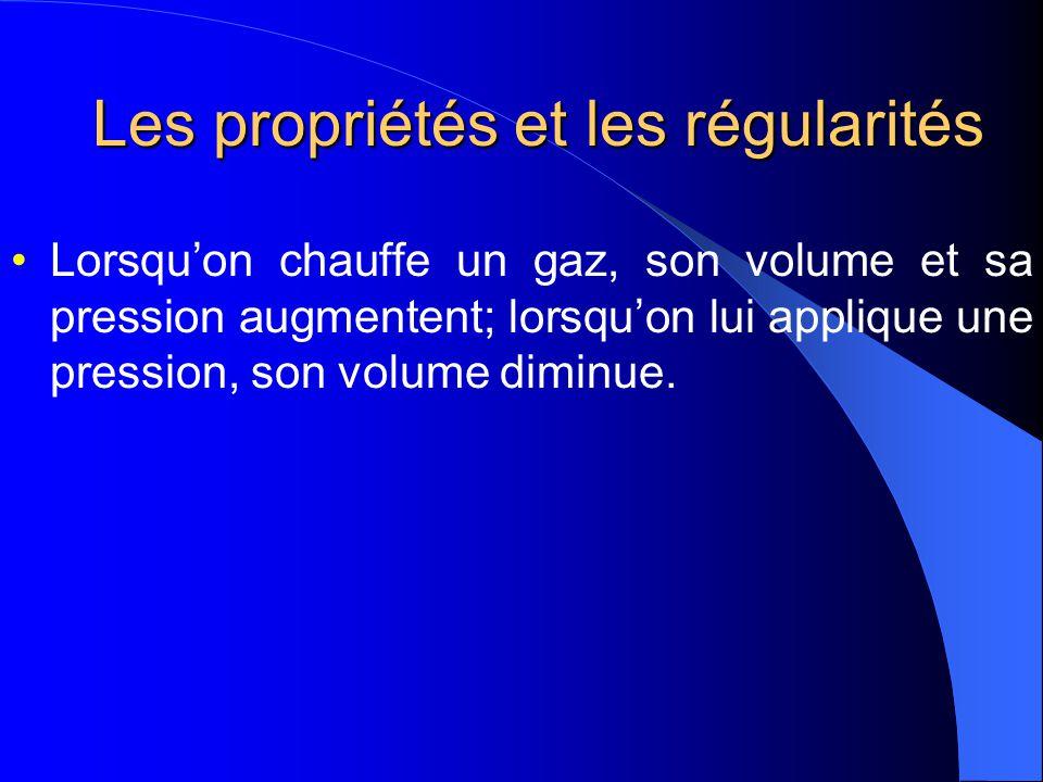 Les propriétés et les régularités
