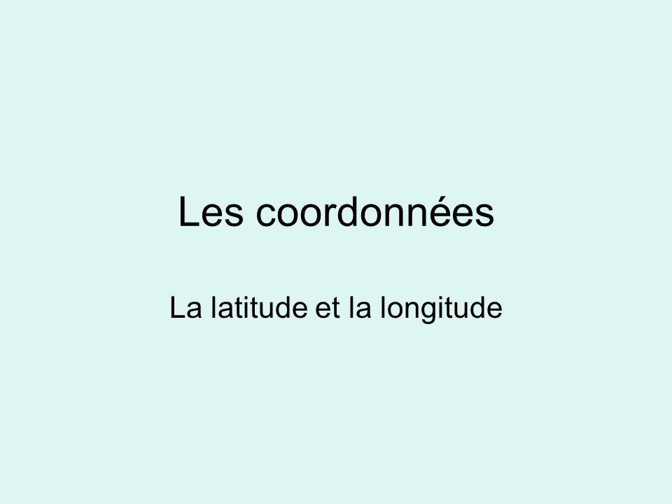 La latitude et la longitude