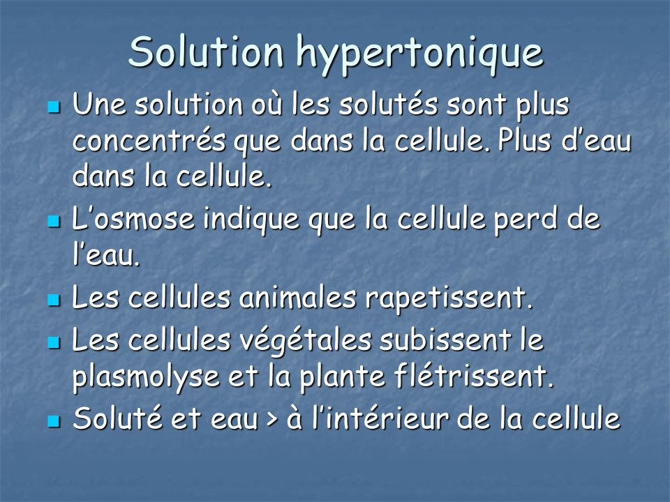 Solution hypertonique