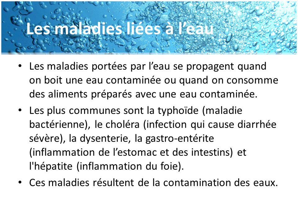 Les maladies liées à l'eau