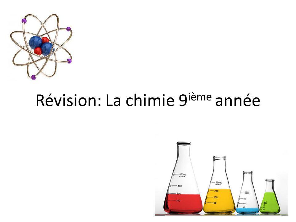 Révision: La chimie 9ième année
