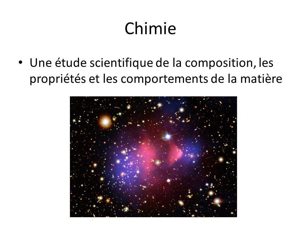 Chimie Une étude scientifique de la composition, les propriétés et les comportements de la matière