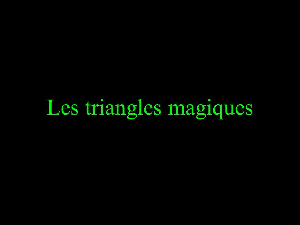 Les triangles magiques