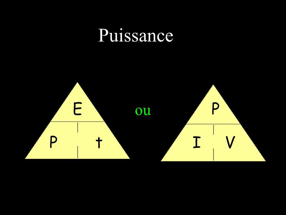 Puissance E P ou P t I V
