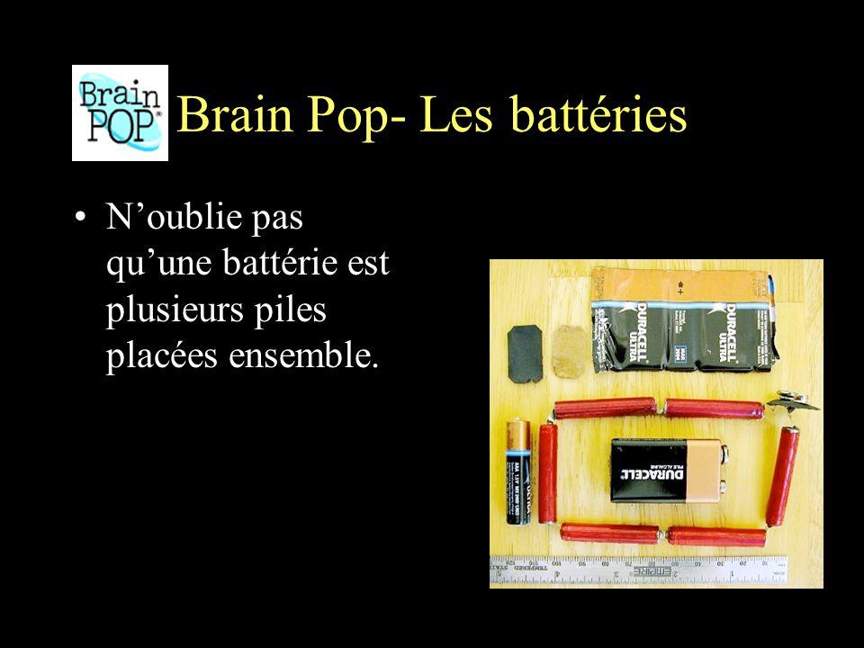 Brain Pop- Les battéries