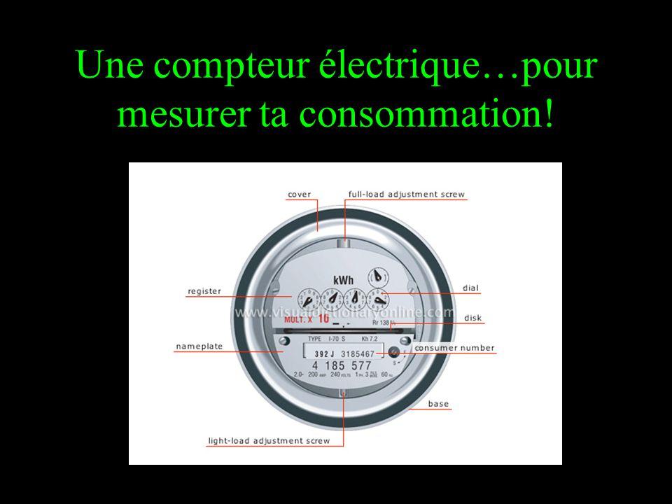 Une compteur électrique…pour mesurer ta consommation!